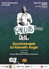 Cineclub Midnight Session cu scurtmetraje de Kenneth Anger