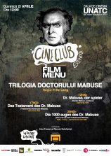 Cineclub Extended - Trilogia Dr. Mabuse (Fritz Lang)