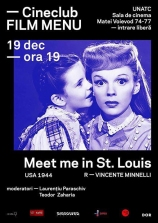 Cineclub FILM MENU se întoarce: Meet Me in St. Louis (Vincente Minnelli, 1944)