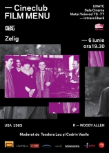 Cineclub FILM MENU: Zelig (Woody Allen, 1983)