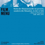 Cineclub FILM MENU: It Is Not the Homosexual Who Is Perverse, But the Society in Which He Lives (r. Rosa von Praunheim, 1971)