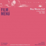 Cineclub FILM MENU: Boy Meets Girl (r. Leos Carax, 1984)